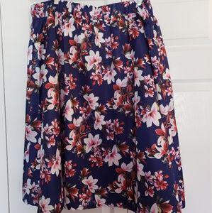 Society+ Floral Midi Skirt NWT